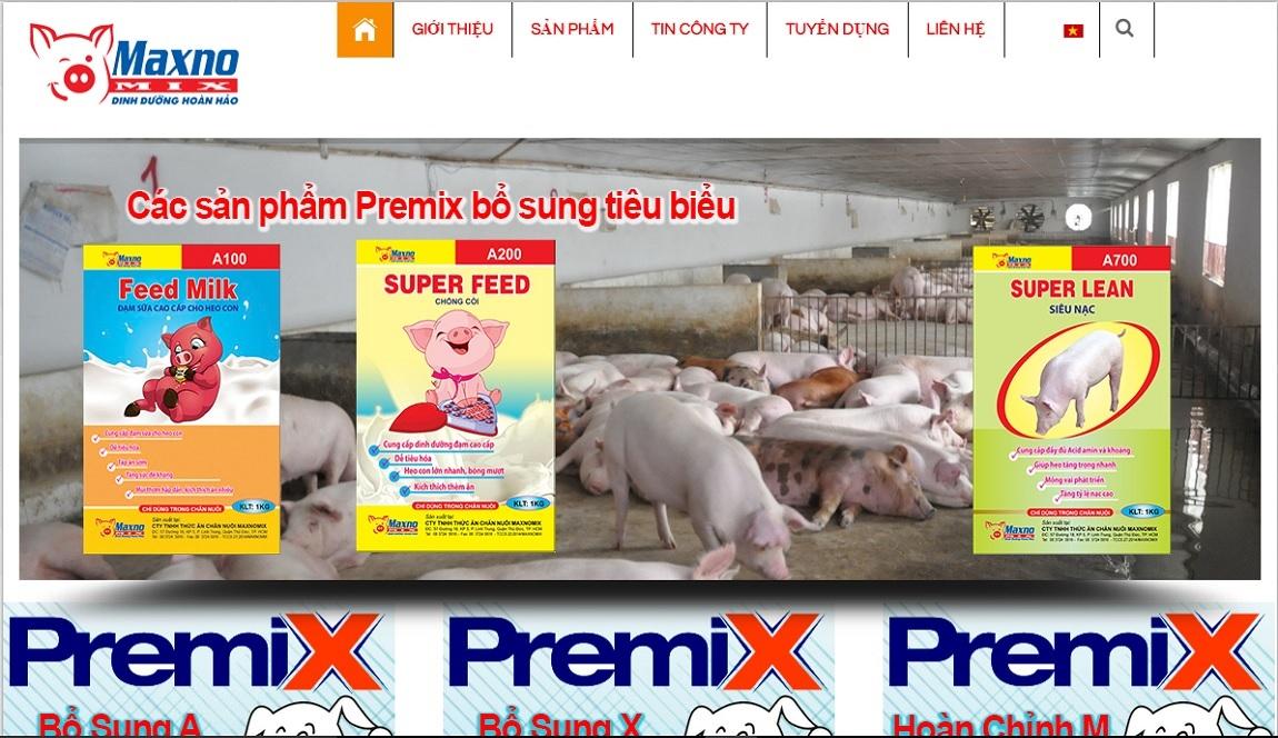 Thiết kế website bán cám