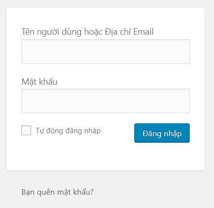 huong dan dang nhap website wordpress