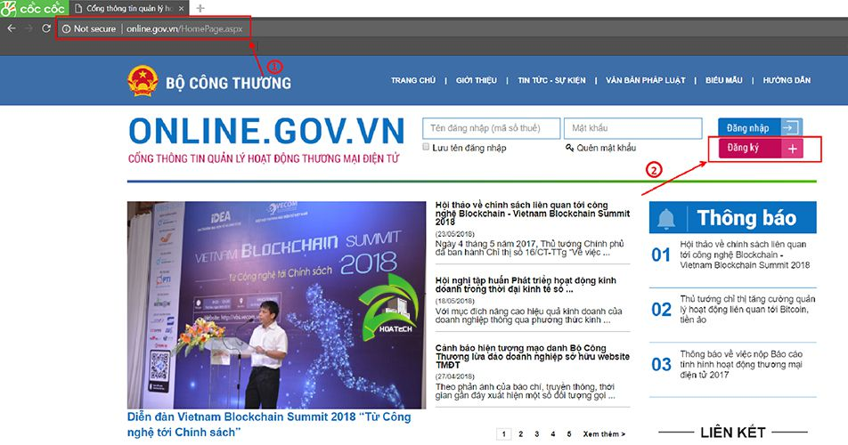 huong dan dang ky website voi bo cong thuong